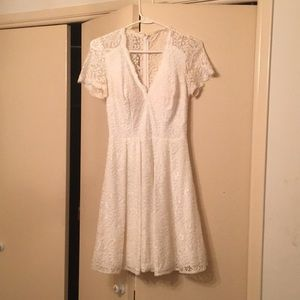 Fit and Flare White Dress by Betsy & Adam